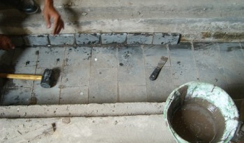 Installation Acid Resistance Brick (2)