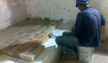 Installation Refractory Brick A
